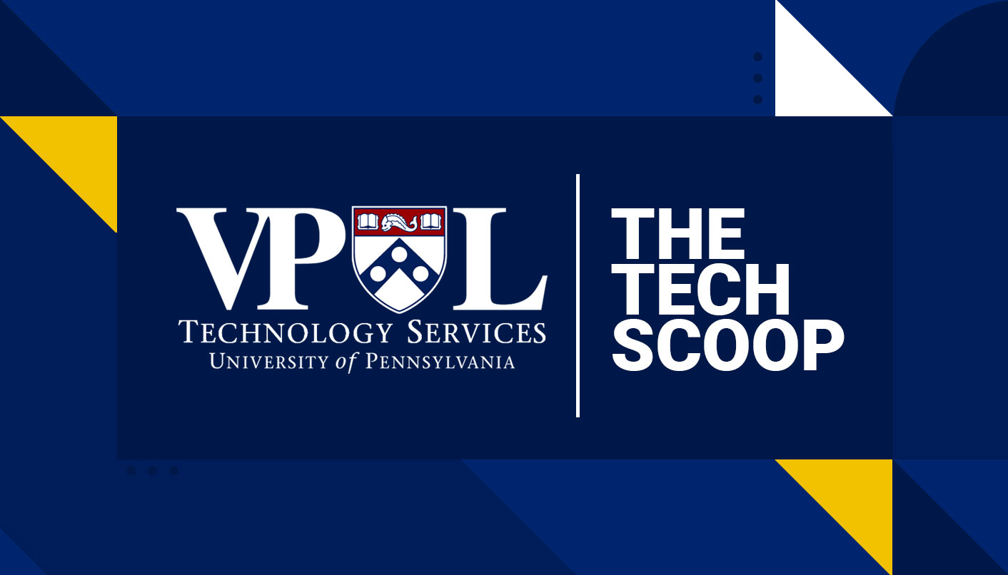 A flyer for The Tech Scoop newsletter by VPUL Technology Services